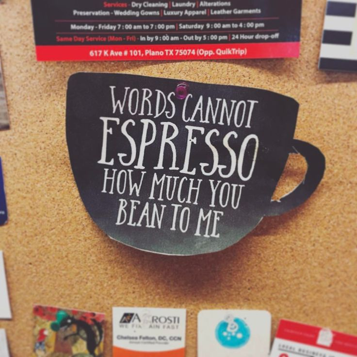 Words cannot espresso how much you bean to me ... FUN funny quote citat byolsen kaffe coffe coffee words