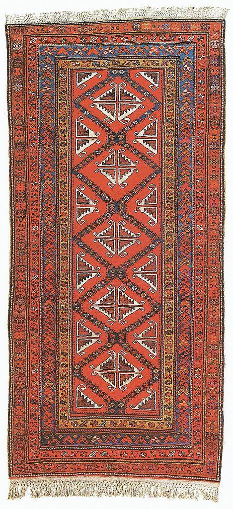 Страны Западной Азии. Иран - Страница 3  Ковер из Мешкин-шахра, восточный Азербайджан, геометрический узор, 1950 г., 283 х 132 см
