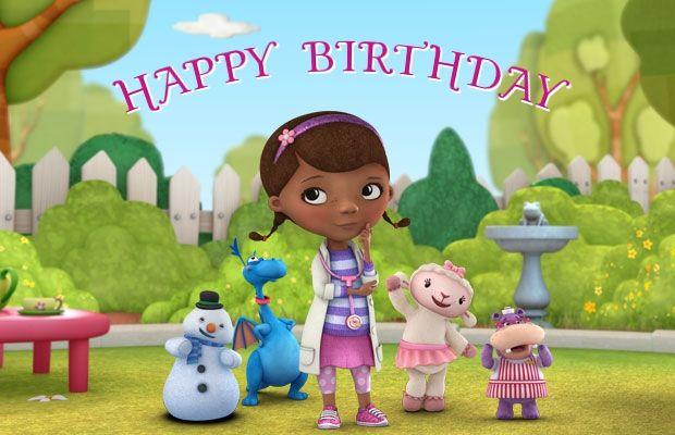9 Best Doc Mcstuffins Birthday Cards Images On Pinterest