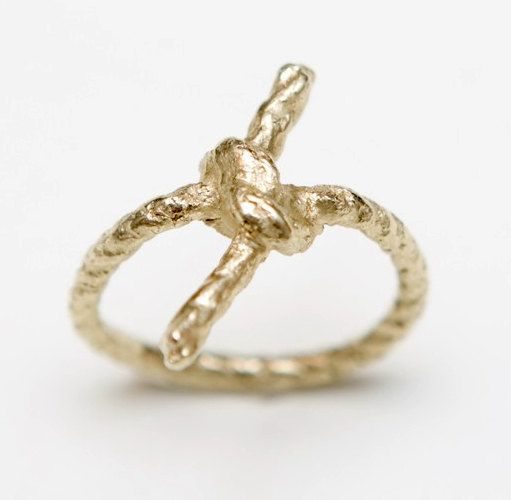 forget me knot: The Knot, Sweet, Knot Rings, Wedding Band, Gold Forget, Gold Rings, Jewelry, Knot Gold, Gold Vermeil