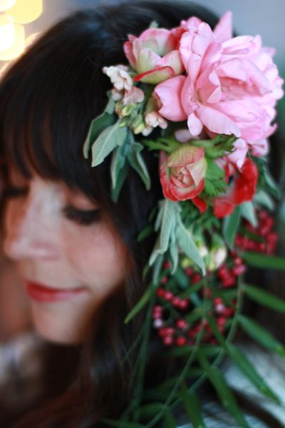 The perfect floral headpiece by Flower Afternoon (UT)
