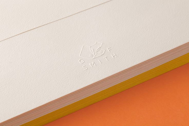 Blind embossed paper designed by Made Thought for British paper merchant G . F Smith