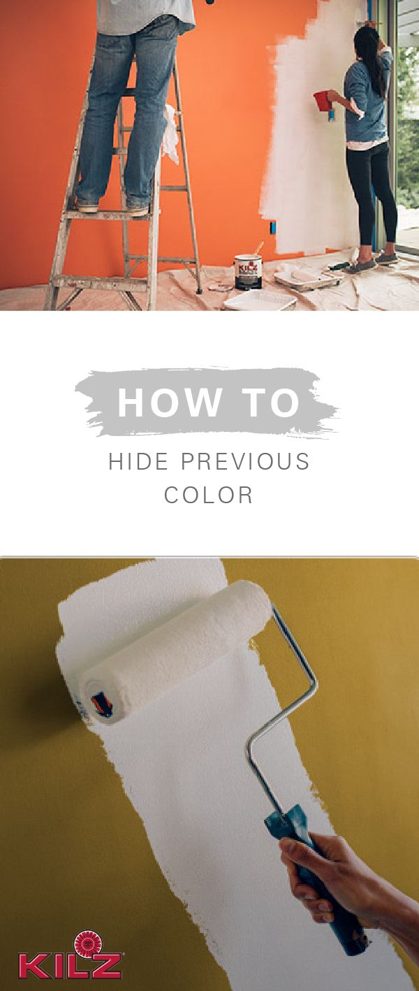 If you're looking to give brightly colored walls a fresh start, the only way to truly hide the previous color is to start with a coat of high-quality primer. Even the darkest colors are no match for KILZ Primer—it's an essential first step that will make all of your DIY home decor projects a breeze!