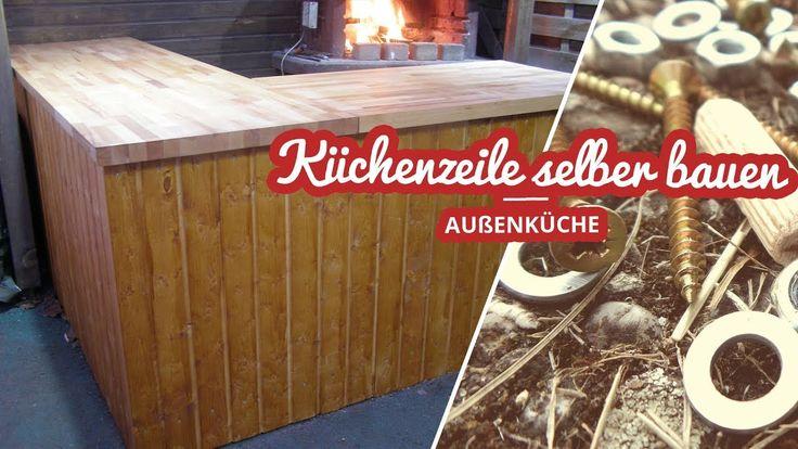 Außenküche Küchenzeile selber bauen | Selfmadekanal – Watch Video  #bauen #enkuche #küchendeko #kuchenzeile #selber