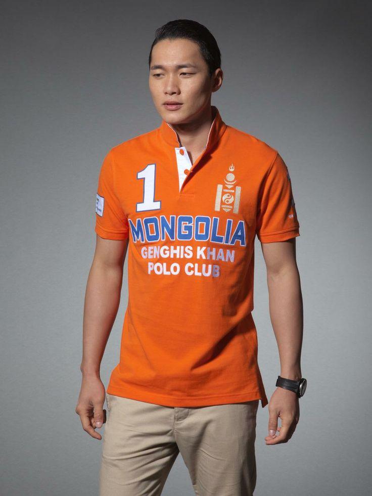 Mongolia player cotton polo shirt