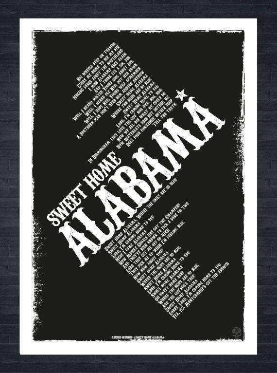 Original lyrics of all summer long song by kid rock. Lynyrd Skynyrd Sweet Home Alabama Lyrics Poster Print Etsy Sweet Home Alabama Lyrics Home Alabama Sweet Home Alabama Song