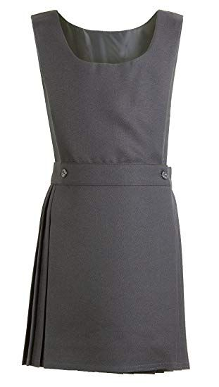 5c15a13526 Girls School Pinafore Dress Black Grey Navy Brown Age 2 3 4 5 6 7 8 ...
