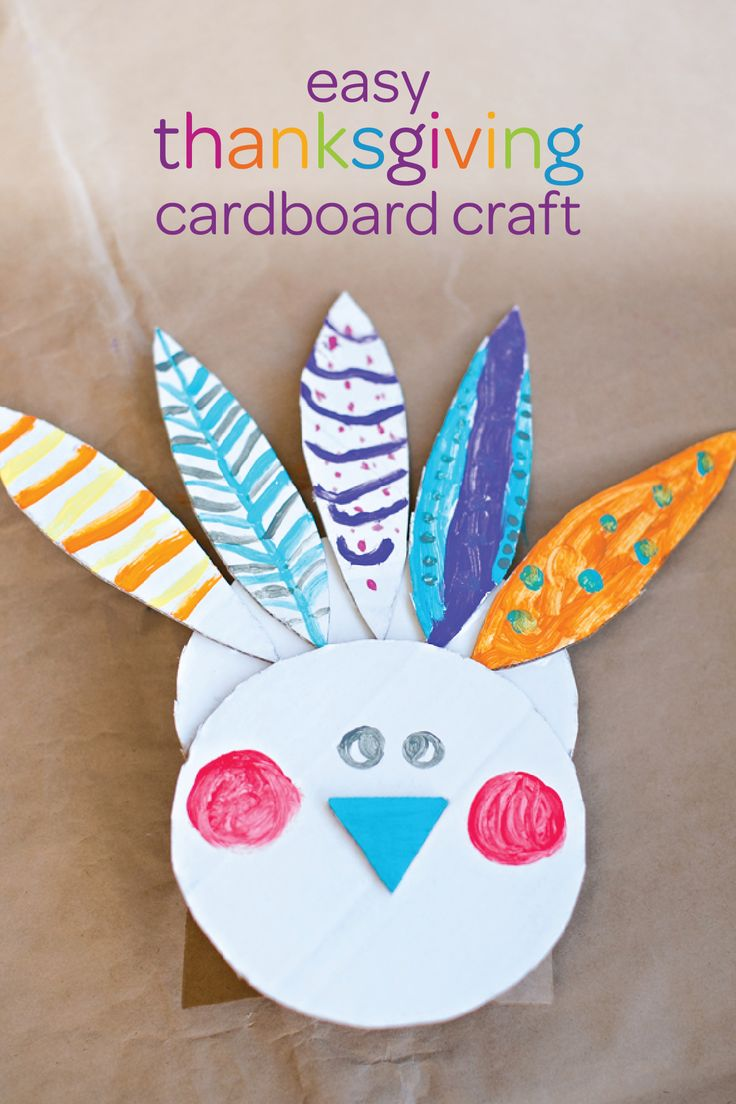 As You Teach Your Little One About All Of Falls Exciting Holidays Get Creative And Make This Easy Thanksgiving Cardboard Craft Kid Friendly Art