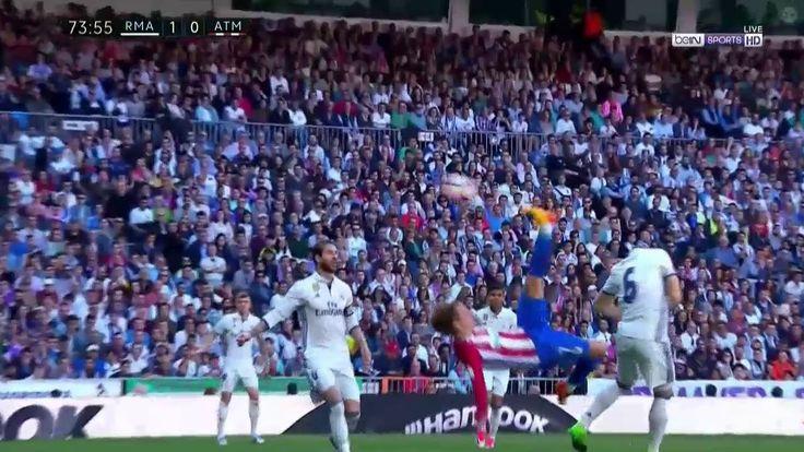 Griezmann Amazing Bicycle Kick - Real Madrid vs Atletico Madrid 2017
