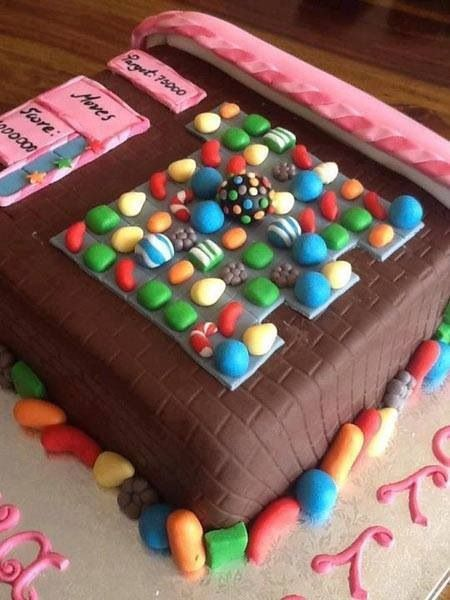 Candy Crush Cake-gonna make this for my mom since she's so addicted to the game