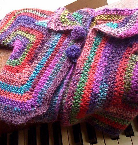 Ravelry: HVM Baby Hexagon Jacket pattern by Heather von Marko