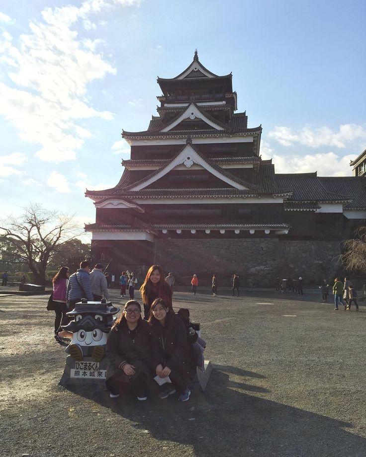 Castelo de Kumamoto com elas #forthe5thtime #or6th #girandoaeconomiadekumamoto by vi.akemi