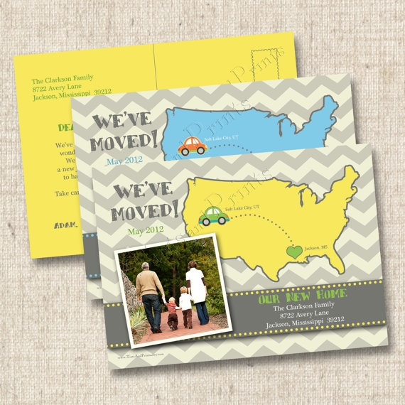We've Moved Announcement Custom Photo Postcard by TintsAndPrints, $22.00