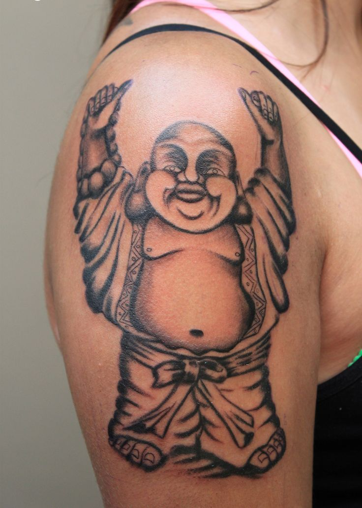 33 best laughing buddha tattoo images on pinterest body for Happy buddha tattoo