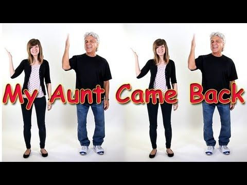 My Aunt Came Back, is a great action song that children love. Each time the aunt returns from a trip she brings back an object that is actually a movement. By the end of the song your entire body is in full motion. This song develops coordination, balance, listening skills and following directions. It's ideal for brain breaks, group activities and indoor recess.