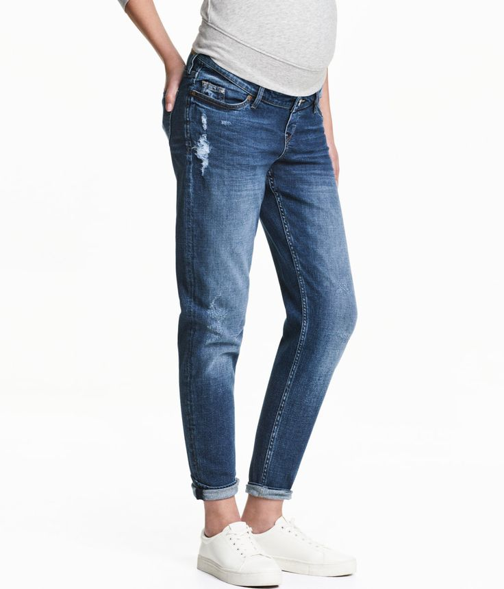 MAMA Boyfriend Trashed Jeans | Blau | Damen | H&M DE