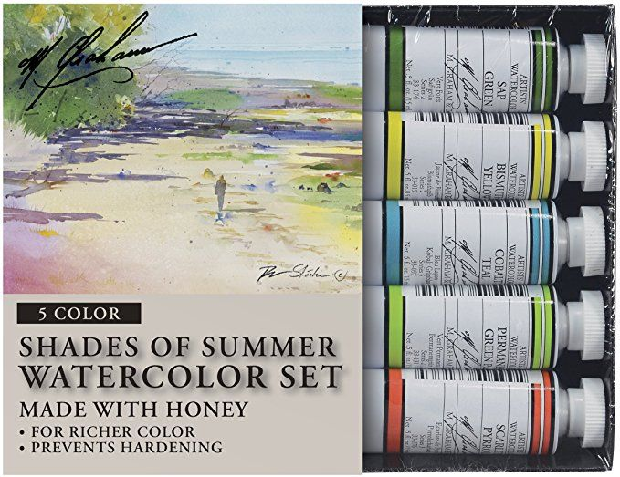 M Graham Tube Watercolor Paint Shades Of Summer 5 Color Set 1 2