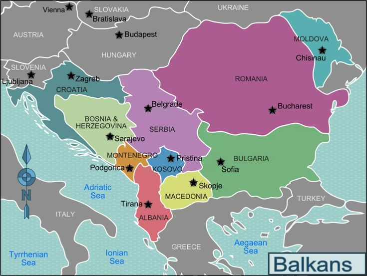Where Exactly Are The Balkan States Balkan Balkans Travel Map