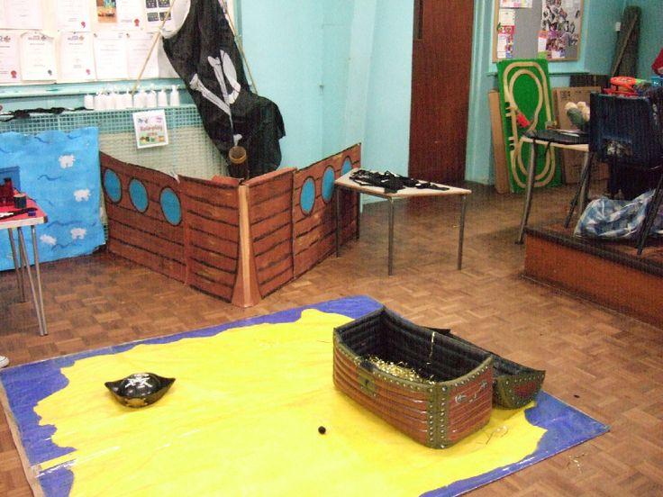Treasure Island role-play area classroom display photo - SparkleBox