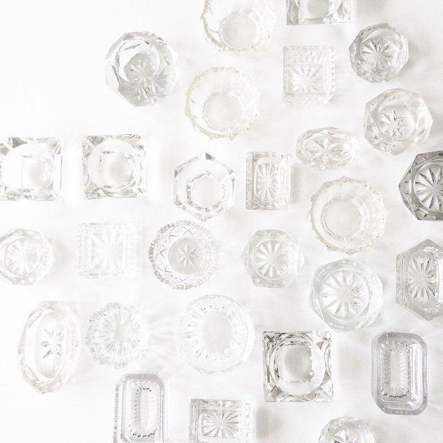 Små krystalkar • sundt for øjet #udlejning #krystalkar #saltkar #fest #opdækning #bryllup #brud #interior #service #krystalglas #vintage