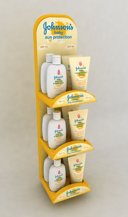 Point of Purchase Design | POP Design | POS Design | Health & Beauty POP | Johnsons Baby Sun Care by Ricky Cordero at Coroflot.com