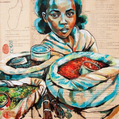 Stéphanie Ledoux - Carnets de voyage: Vendeuse de poivres et vanille (Madagascar)