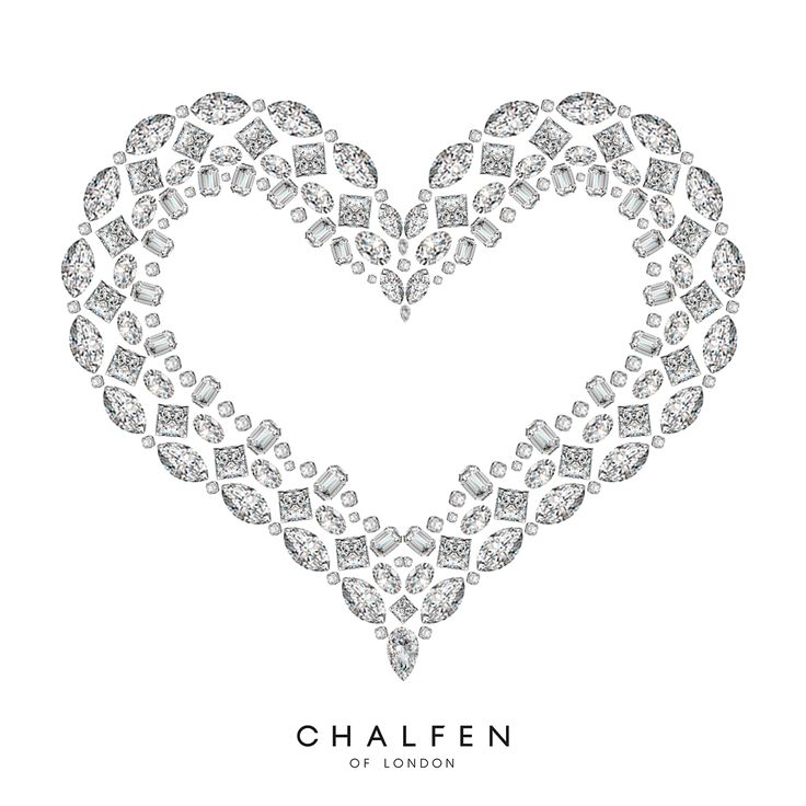 Client: Chalfen Of London Task: Valentines Heart Made From Diamonds