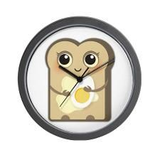 SOLD one on CafePress!  Cute Toast with Butter and Egg Wall Clock