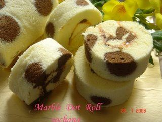 Yochana's Cake Delight! : Marble Dot Roll