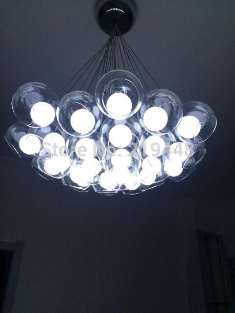 moderne verre lustre pour salle manger salon personnalis chambre alle restaurant led bubble ball lustre