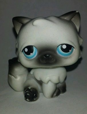 Lps black and white persian cat