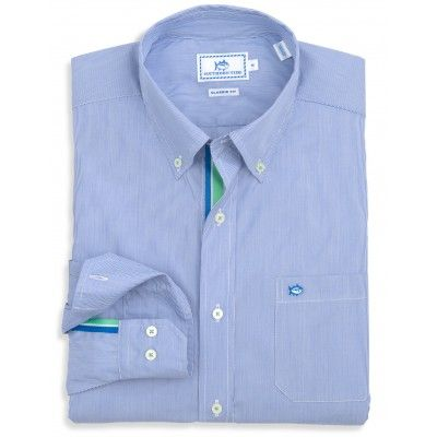 Trade Street Stripe Sport Shirt | Southern Tide