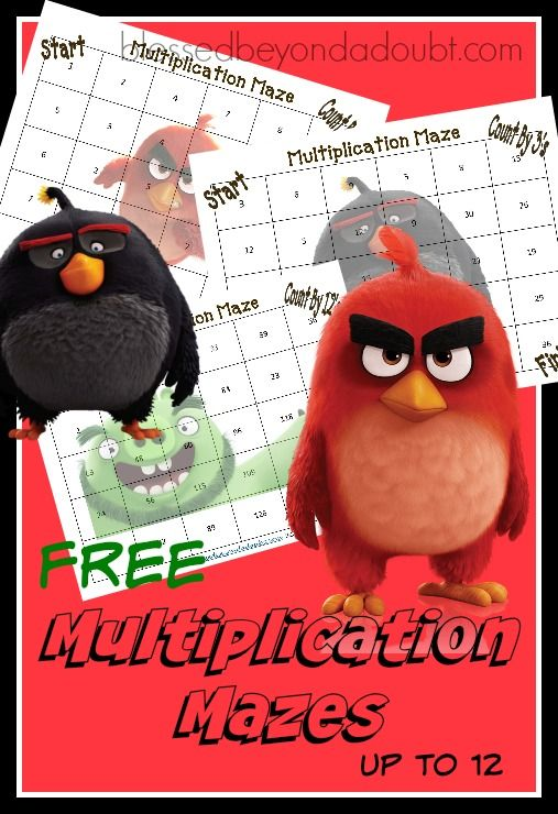 FREE Multiplication Math Sheets - Mazes that teach skip counting.