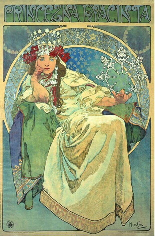 Alphonse Mucha, Princezna Hyacinta, 1911, private collection