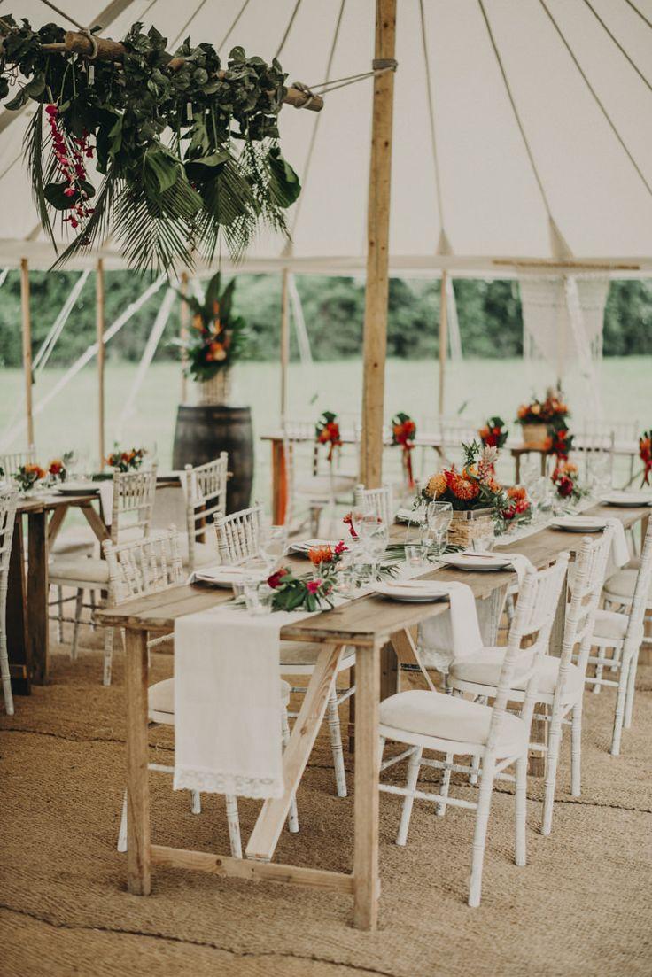 wedding reception at home ideas uk%0A Vibrant Tropical Wedding Ideas