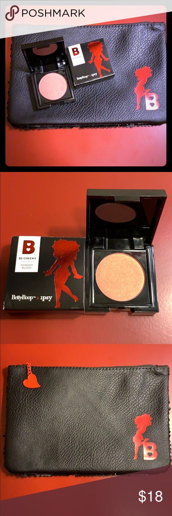 Betty Boop x IPSY Blush, Brush & Makeup Bag 💋 Makeup bag