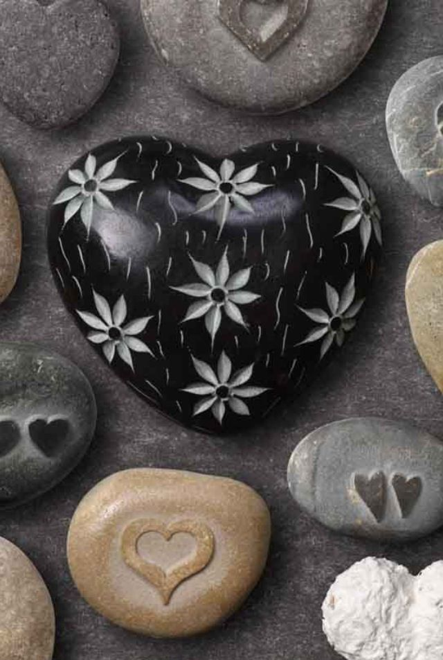 Rock art, with my Dremel. Use a diamond ball burr to carve into your chosen heart shaped rocks. http://www.eternaltools.com/diamond-ball-burs