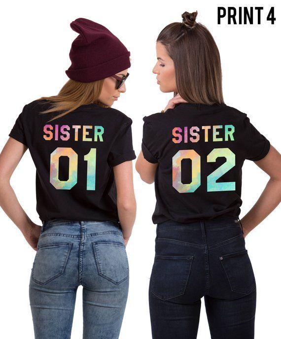 c7ed7710 Sister 01 Sister 02 Shirts Sister Shirts Sister Gift Gift | Etsy ...