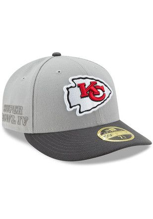 ca1e5a11b1d Kansas City Chiefs New Era Mens Grey Glory Low Profile 59FIFTY Fitted Hat