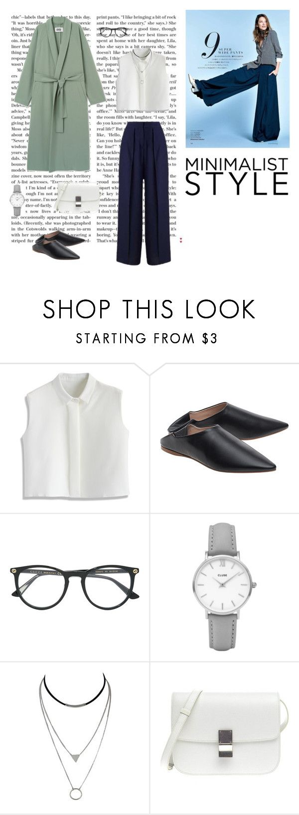 """""""Pure and pretty"""" by dorey on Polyvore featuring Chicwish, Acne Studios, Gucci, CLUSE and Miss Selfridge"""
