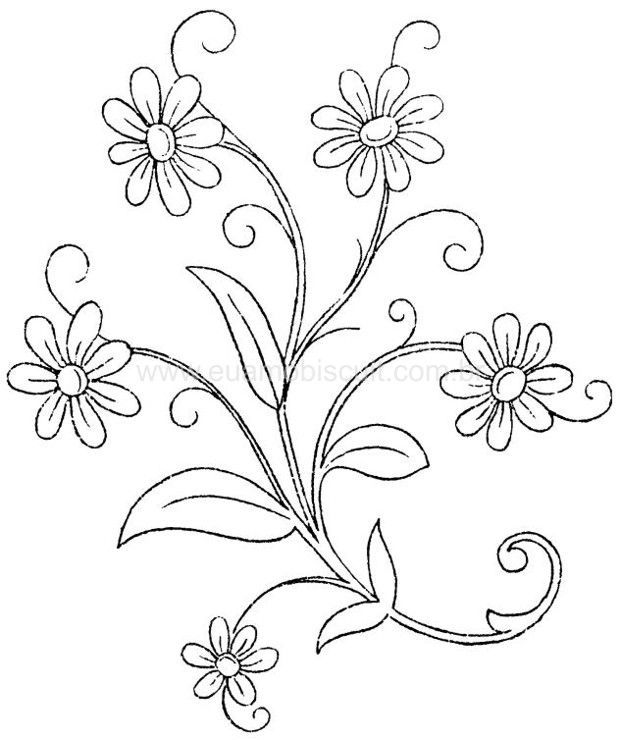 Resultado de imagen para flores para bordar falda