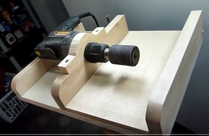 Hand drill thickness sander