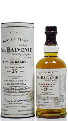 Balvenie – Single Barrel – 1974 25 year old Whisky: Balvenie Whisky Cardboard Tube 70cl / 700ml