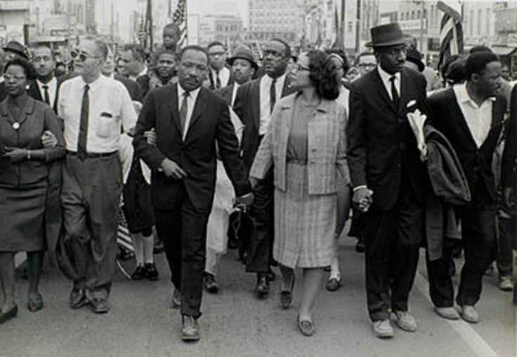 Morton Broffman (American, 1928-1992) il dottor King e Coretta Scott King leader marciatori, Montgomery, Alabama, 1965 argento Stampa alla gelatina High Museum of Art, Atlanta;  Dono della famiglia Broffman 2.007,34