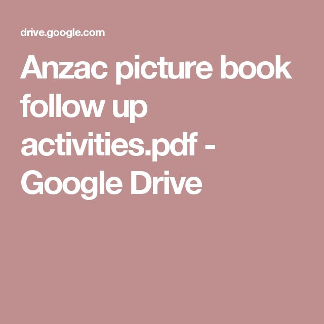 Anzac picture book follow up activities.pdf - Google Drive