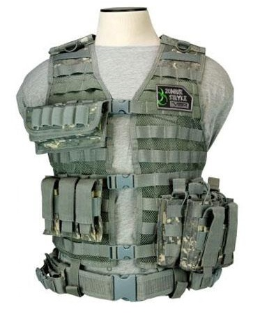 NcStar Airsoft ACU VISM Zombie Dead Ops Tactical Vest Kit