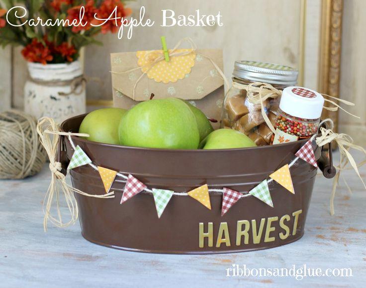 DIY Caramel Apple Basket