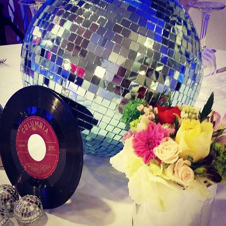 #disco #party #centerpiece #kids #party #kidsparties #ideas by #wecandoit