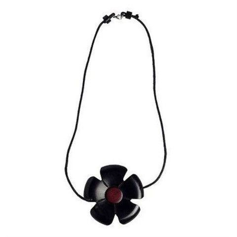 Baob Art Jewelry - African Blackwood Flower And Pink Ivory Wood Necklace - BaobArt