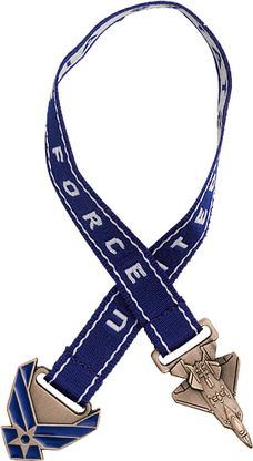 This Air Force bookmark salutes the courage and skill of Air Force personnel.